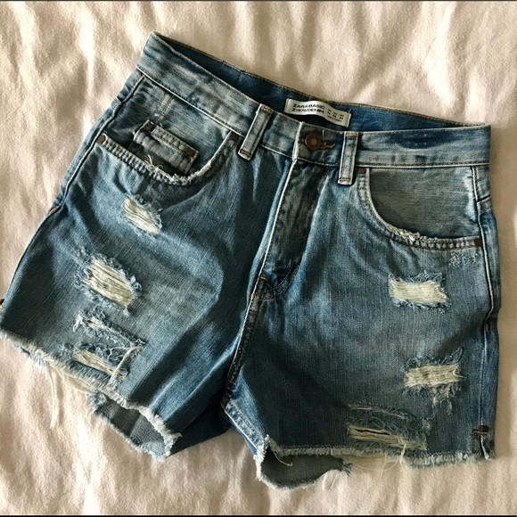 8ed7093935 Zara Shorts | Distressed Denim Cutoffs | Poshmark